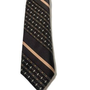 Vintage ESQUIRE Cravats Retro Mod Tie Brown